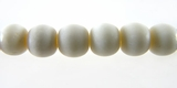 Round White Bone Beads 8mm