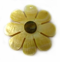 Mother Of Pearl Sunflower Shell Pendants 46mm