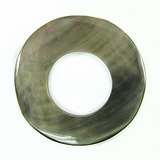 Blacklip Plain  Donut Shell Pendants 30mm