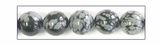 Snow Flake Obsidian Round Beads 8mm