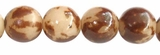 Round Natural Buri Beads with skin 10-12mm