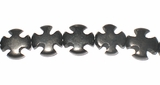 Black Cross Buri Bead 10mm
