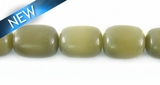 Natural Moss Oval Buri Beads 10-12mm