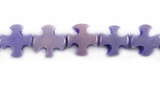 Purple Cross Buri Bead 10mm