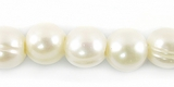 Large Hole White Potato Pearls 9-10mm