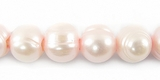 Large Hole Pink Potato Pearls 9-10mm
