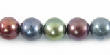 Mixed Blue/Green/Brown Potato Pearls ~8x9mm