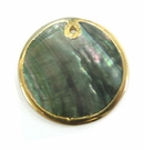 Blacklip 30mm Round In Gold Frame