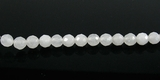 White Jade Round Beads Faceted 6mm