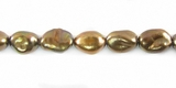 Bronze Rice Keshi Pearls  5x8mm