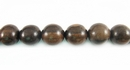Round Tiger Ebony  Wood Beads 6mm