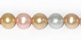Multi-Color Peach Potato Pearls 8-8.5mm