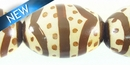 Painted Wood African Print Oval