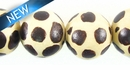 Whitewood Round Handpainted Animal Print 15mm