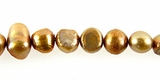 Goldish Champagne Nugget Pearls 5-6mm