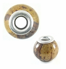 Natural Banana Bark Round 15x12mm