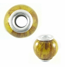 Yellow Banana Bark Round 15x12mm
