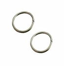 Round Silver Plated Jump Rings 10mm