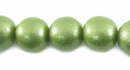 Metallic  Green Round Wood Beads 10mm