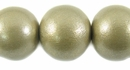 Metallic  Nude Round Wood Beads 20mm