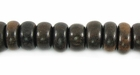 Rondelle Tiger Ebony Wood Beads 8mm (4mm thick)