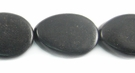 Flat Teardrop Black  Ebony  Wood  Beads 12x16mm