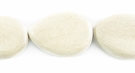 Unbleached Flat Teardrop Whitewood  Beads 12x16mm