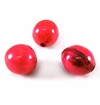 Red Round Banana Bark Inlay Wood Beads
