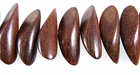 Ironwood Nugget Beads 30x12mm