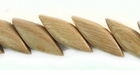 Rosewood Diagonal Cut Nugget Beads 8x17mm