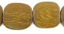Flat Square Robles Wood Beads 25mm