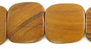 Flat Square Bayong Wood Beads