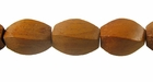 Twisted Bayong Wood Beads 10x15mm