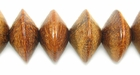 Bayong Saucer Wood Beads 10x15mm