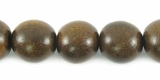 Burnt Horn Round Beads 10mm