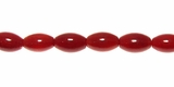 Bamboo Coral (Red) Rice beads 4.5x8mm