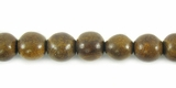 Burnt Horn Round Beads 6mm