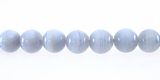 Smooth Round Blue Agate Beads 6mm