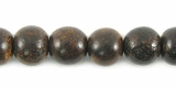 Burnt Horn Round Beads 8mm
