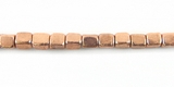 Copper Finish Cube Beads 3x4mm