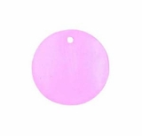 Pink Round Hammershell Beads 25mm