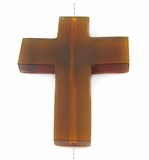 Golden Horn Cross Pendant