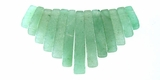 Green Tapered  Aventurine Beads