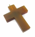 Golden Horn Cross Pendant With Ring