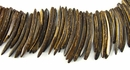 Natural Brown Coco Stick Beads 50mm