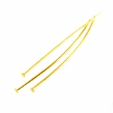 """Gold Plated  Head Pins 2"""""""