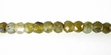 Labradorite Faceted Rondelle Beads 4x3mm