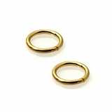 Round Gold Plated Open Jump Rings 8mm
