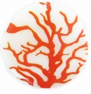 Tree Print Decal River Shell Pendant