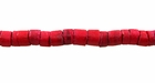 Red Coco Heishi Beads 4-5mm